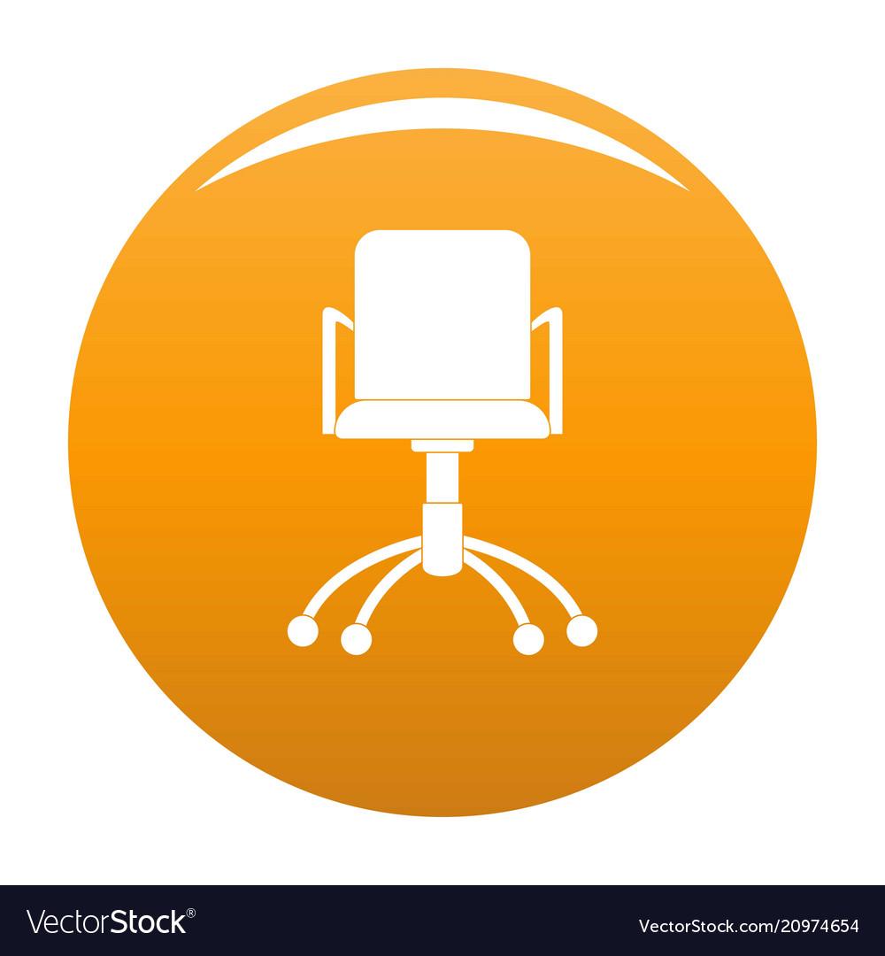 Computer Chair Icon Orange Vector Image
