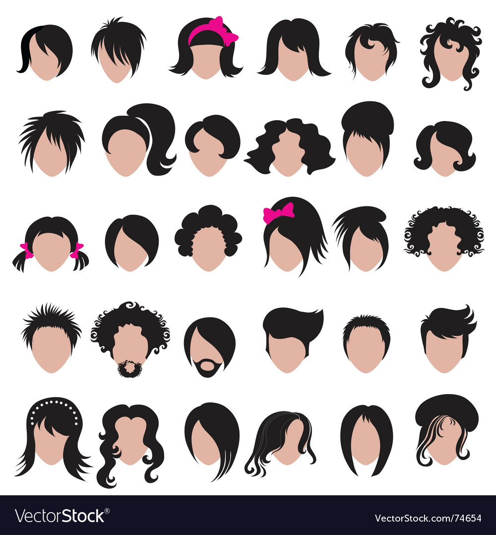 Hair styling vector image