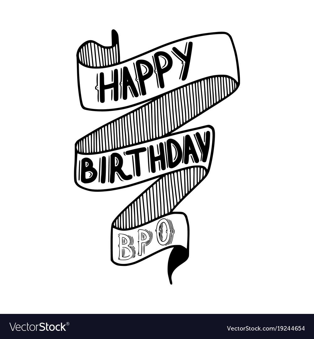 Surprising Happy Birthday Bro Royalty Free Vector Image Vectorstock Personalised Birthday Cards Bromeletsinfo