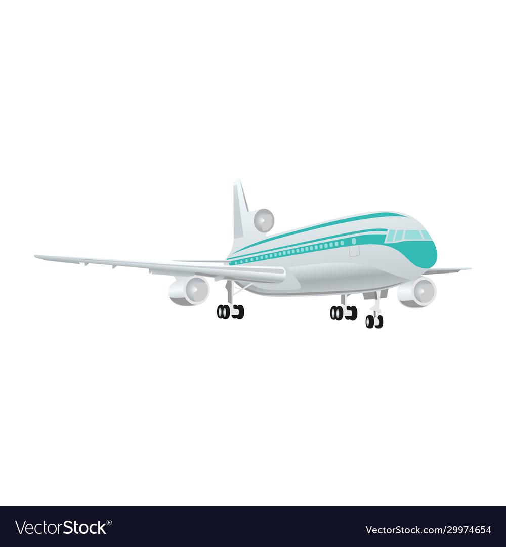Large passenger jet airliner realistic white