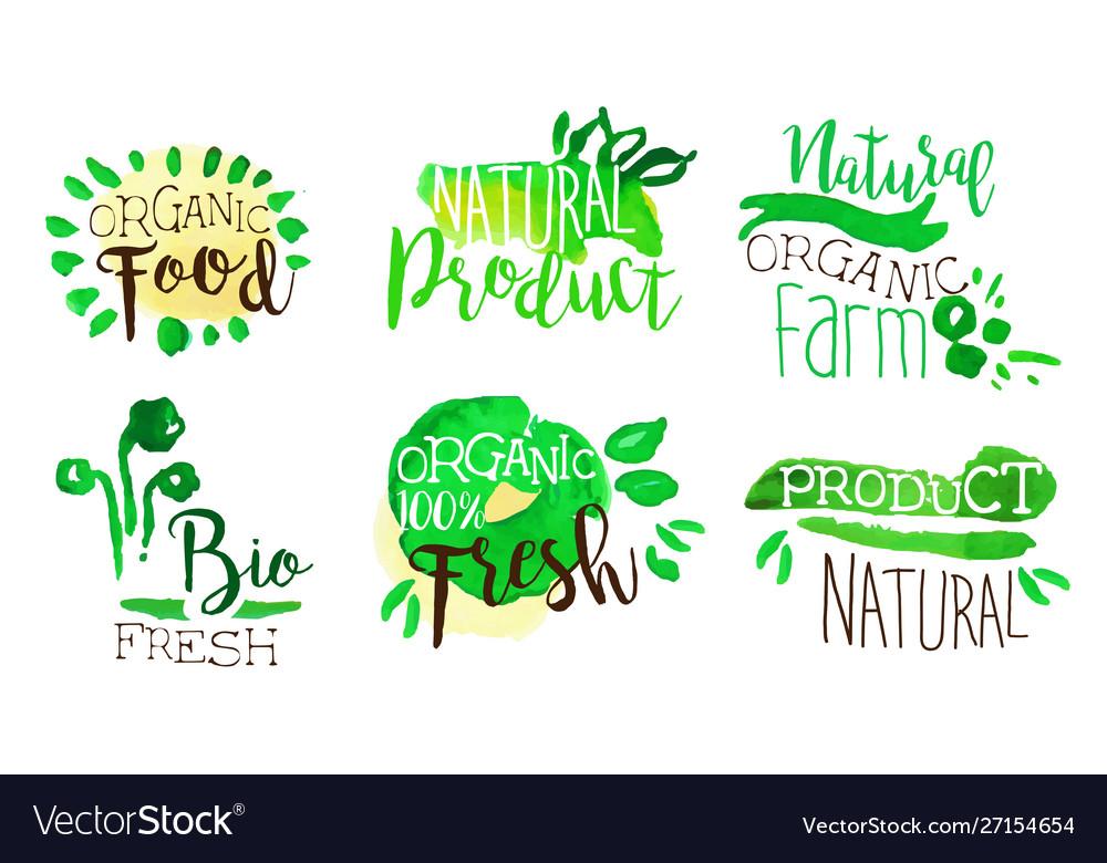 Organic food labels set natural farm product