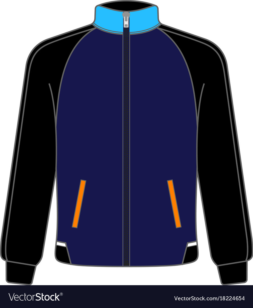 Polo sport jacket mock up realistic