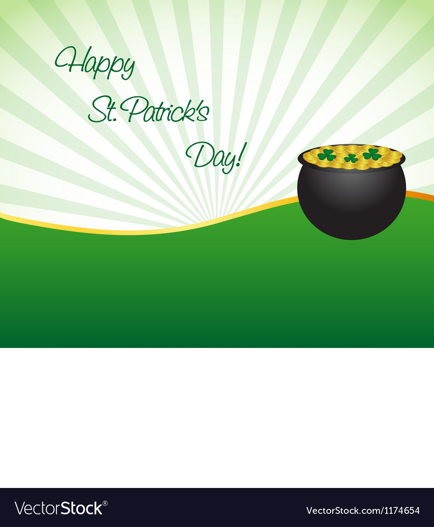 Saint Patricks Day Wallpaper Royalty Free Vector Image