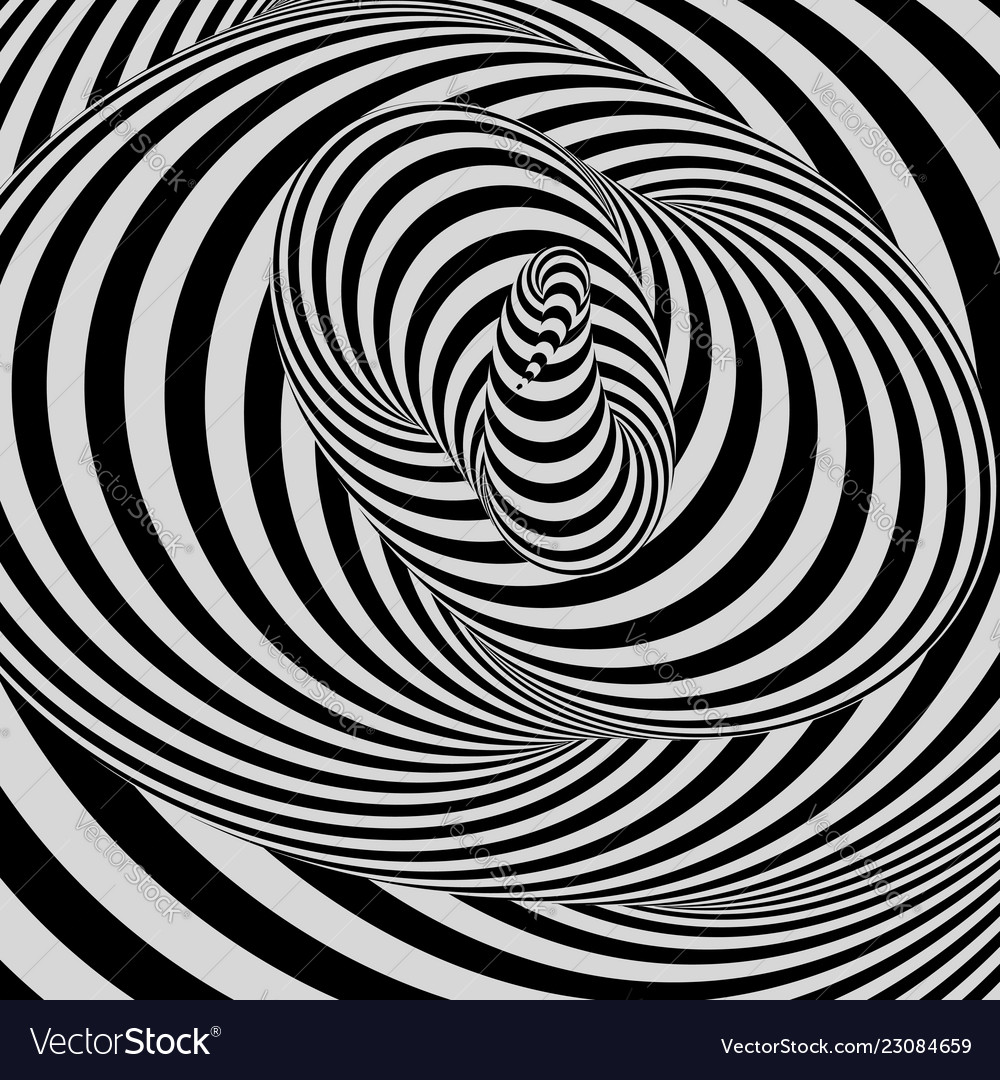 Black White Abstract Striped Background 3d Art