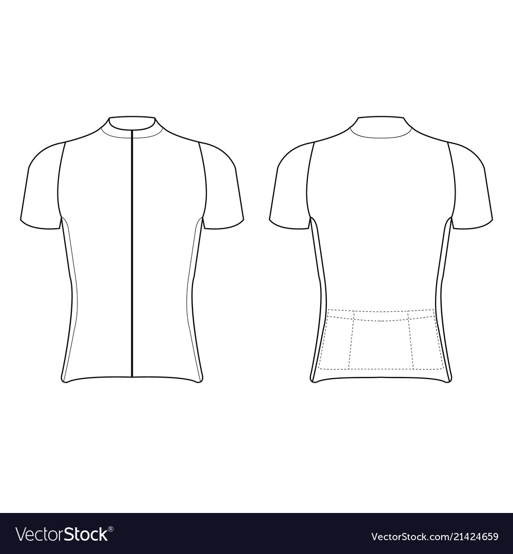 Cycling Jersey Design Blank Cycling Jersey Vector Image