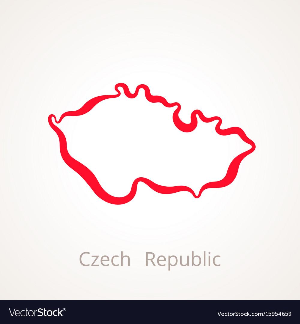 Czech republic - outline map vector image