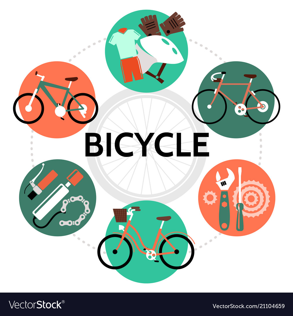 Flat bicycle round concept