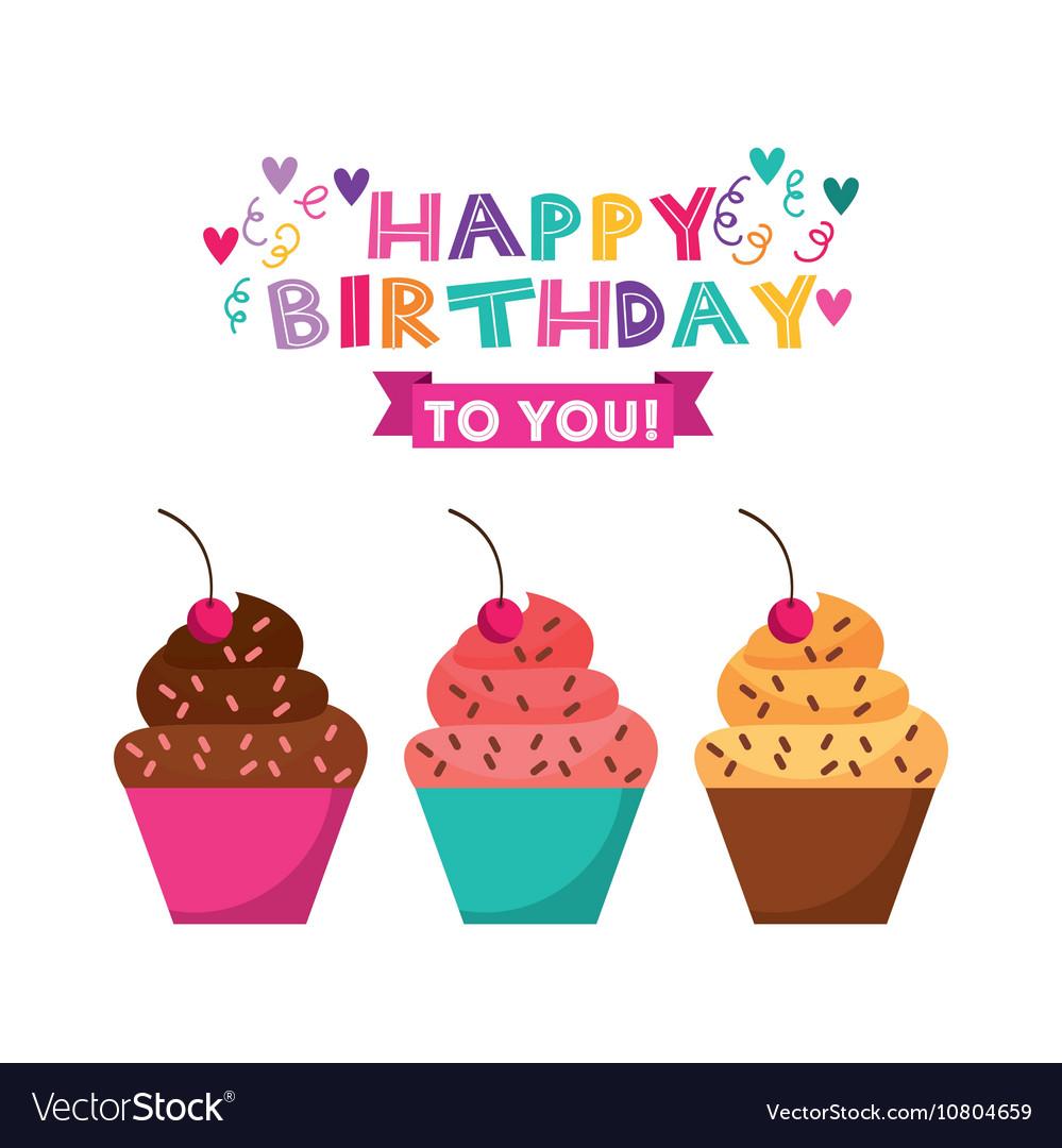 Happy birthday celebration card icon