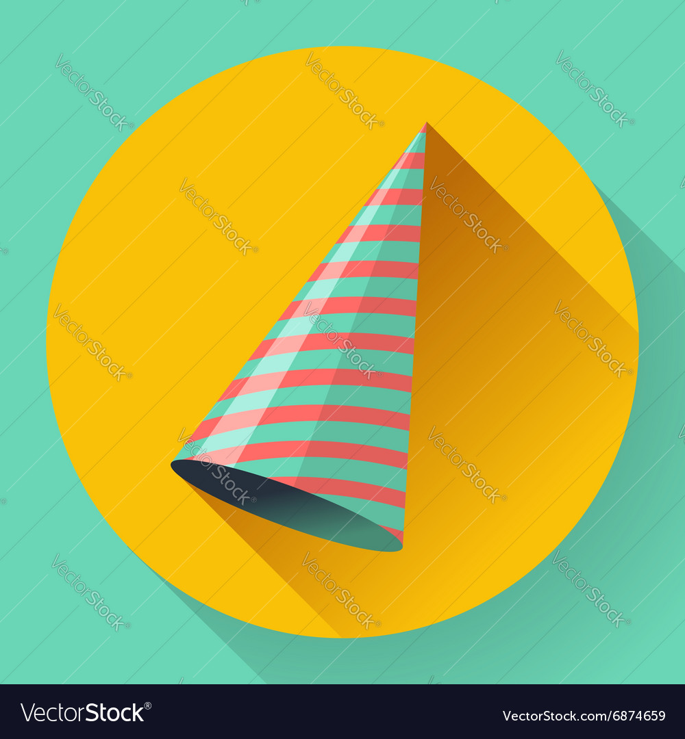 Icon of Party hat Flat designed style