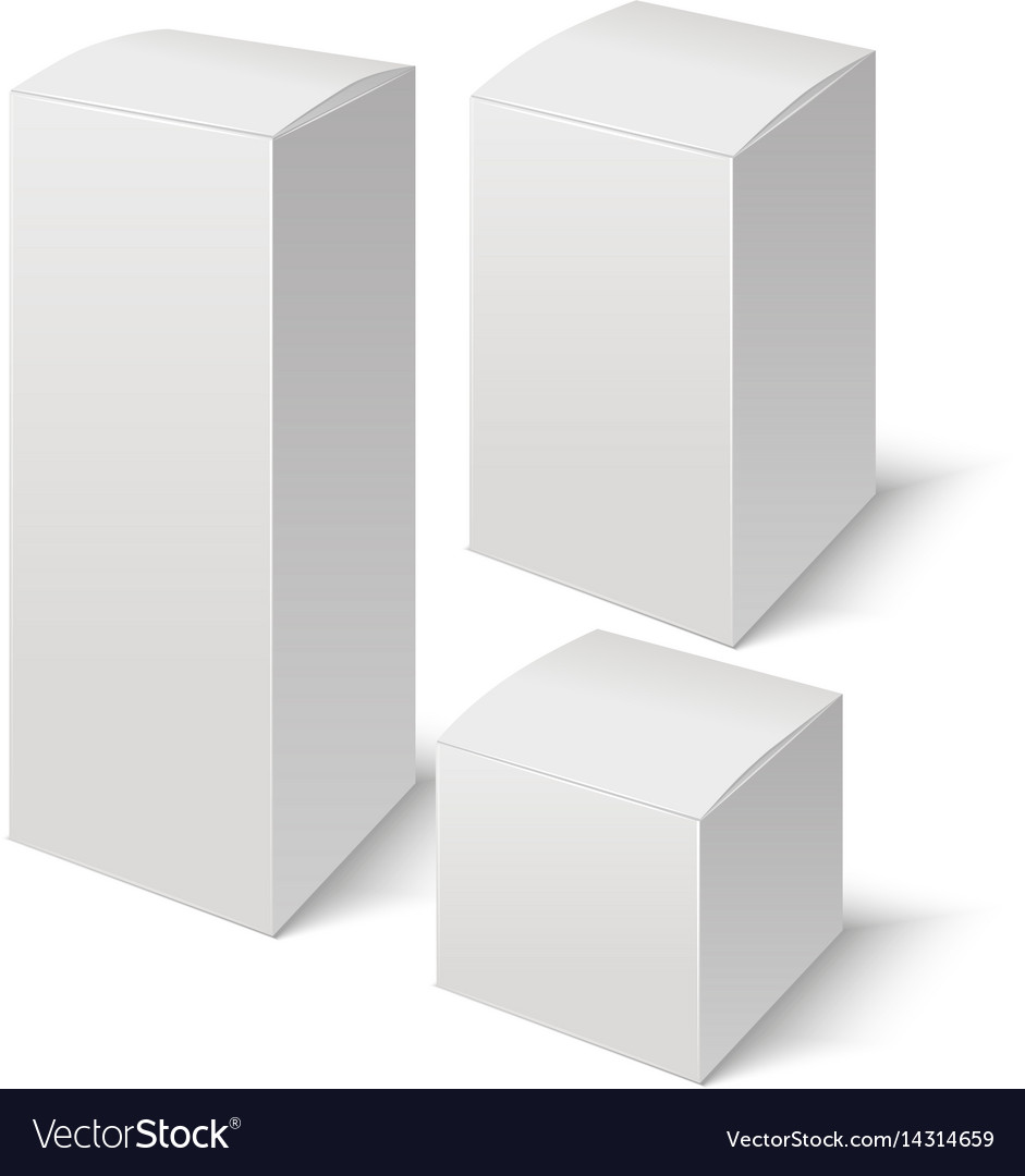 Set of realistic boxes