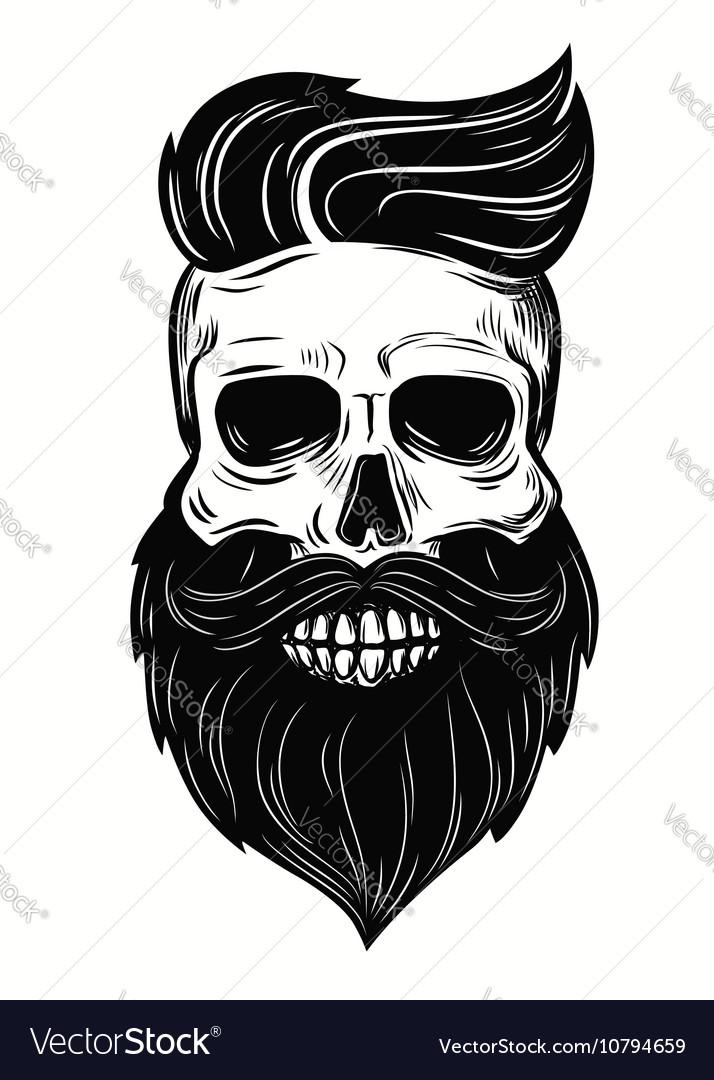 Skull on white