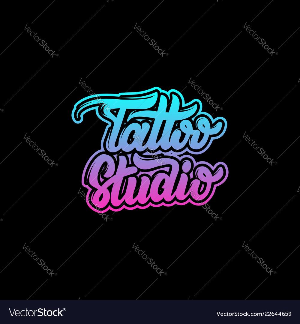Tattoo studio handwritten trendy lettering