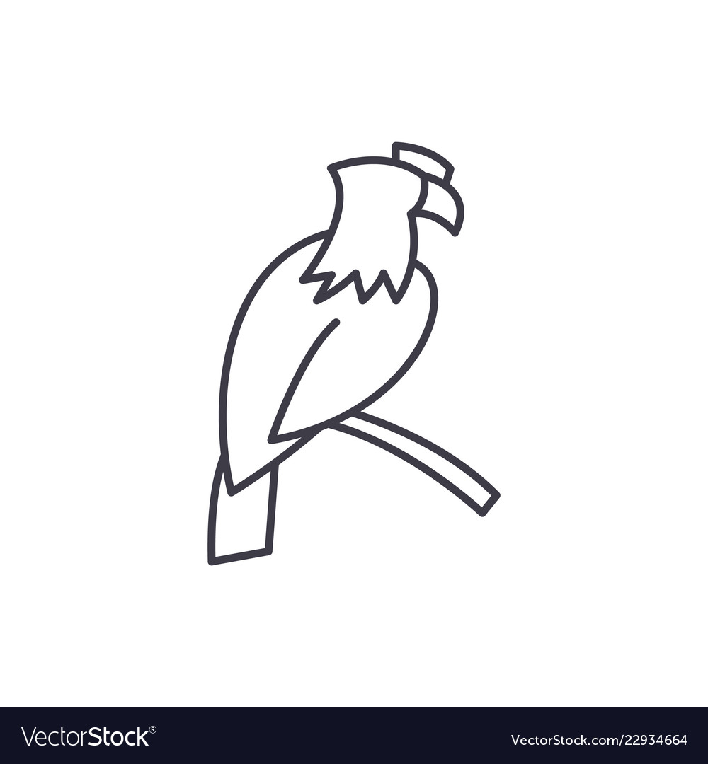 Eagle line icon concept eagle linear