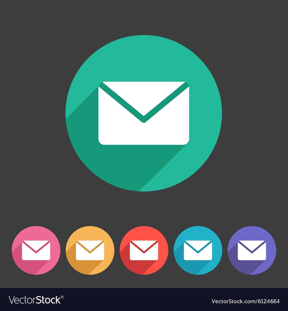 Mail post envelope icon flat web sign symbol logo