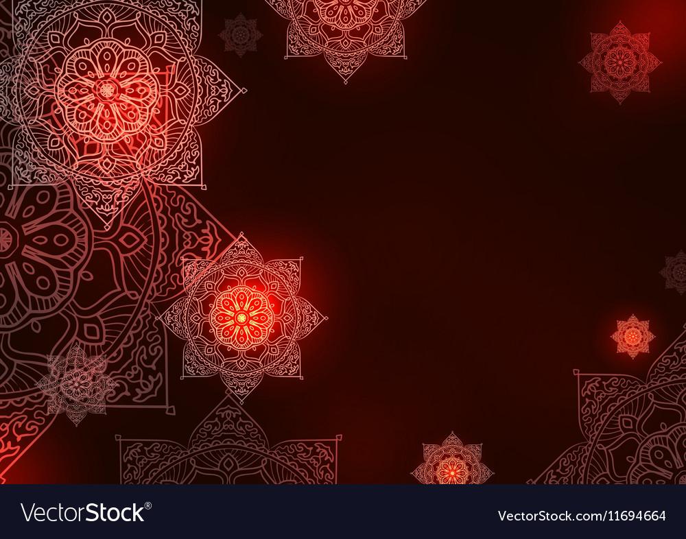 Mandala background pattern vector image