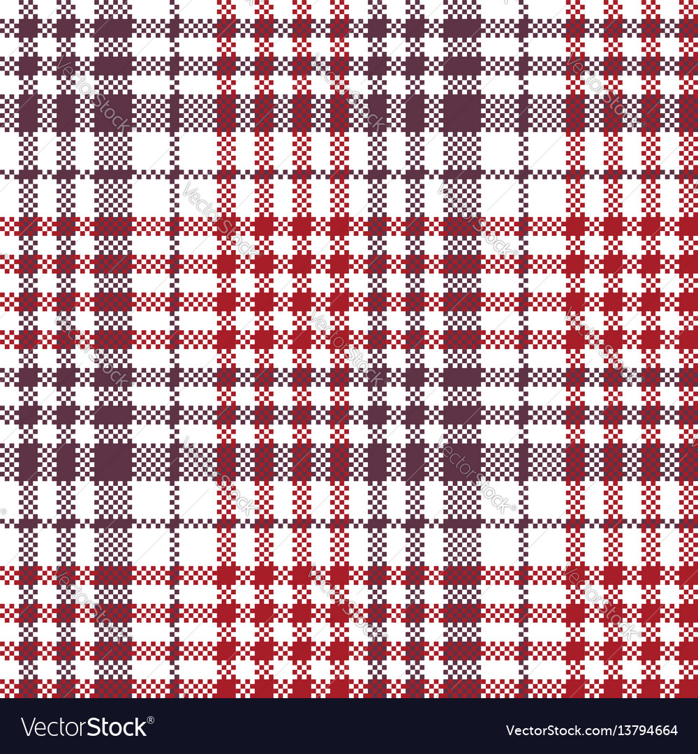 Pixel fabric texture check plaid tablecloth