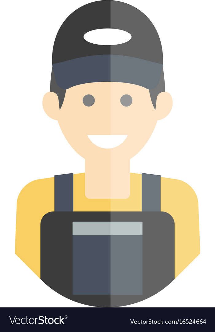 Smiling laborer man