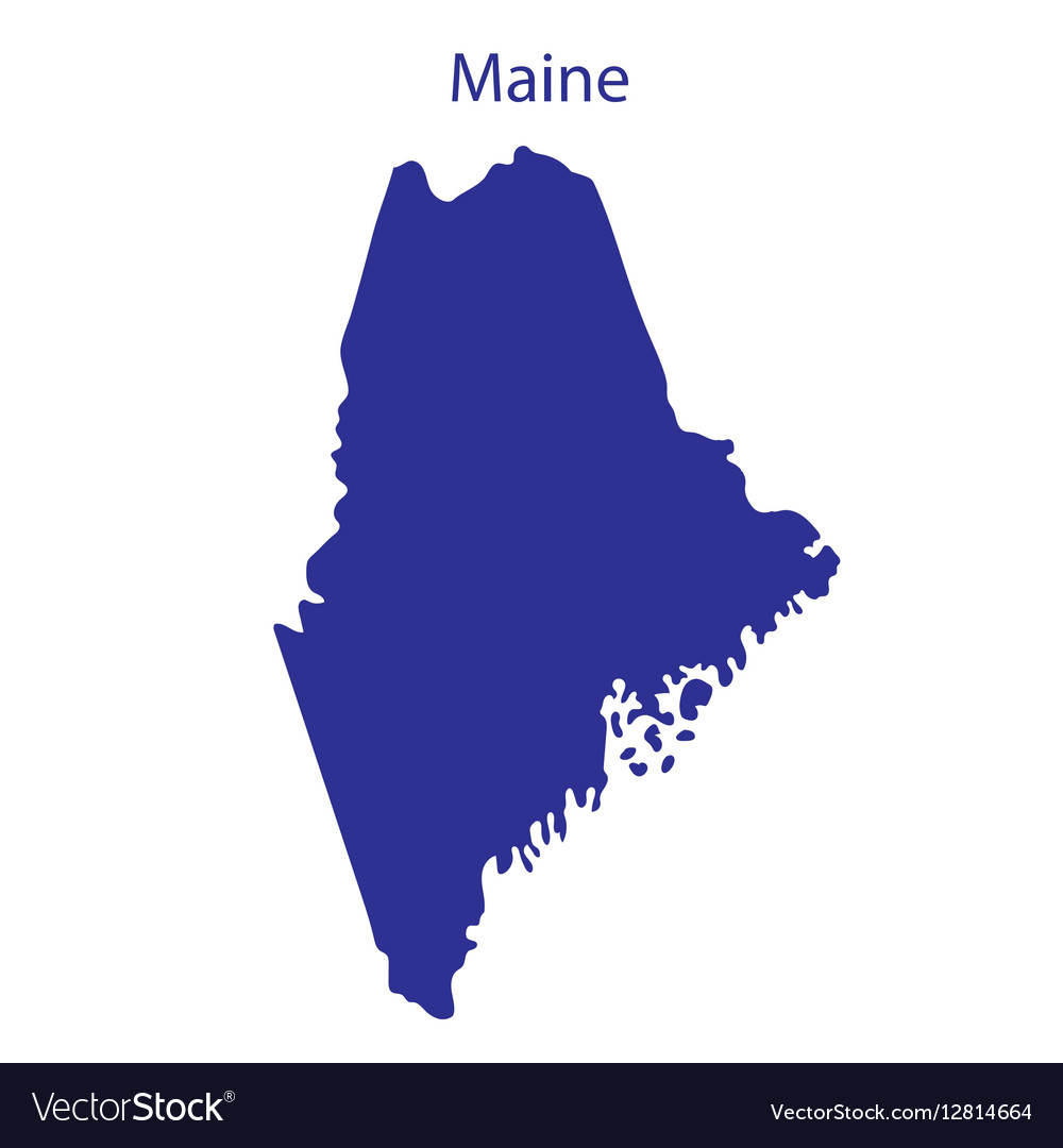United States Maine vector image