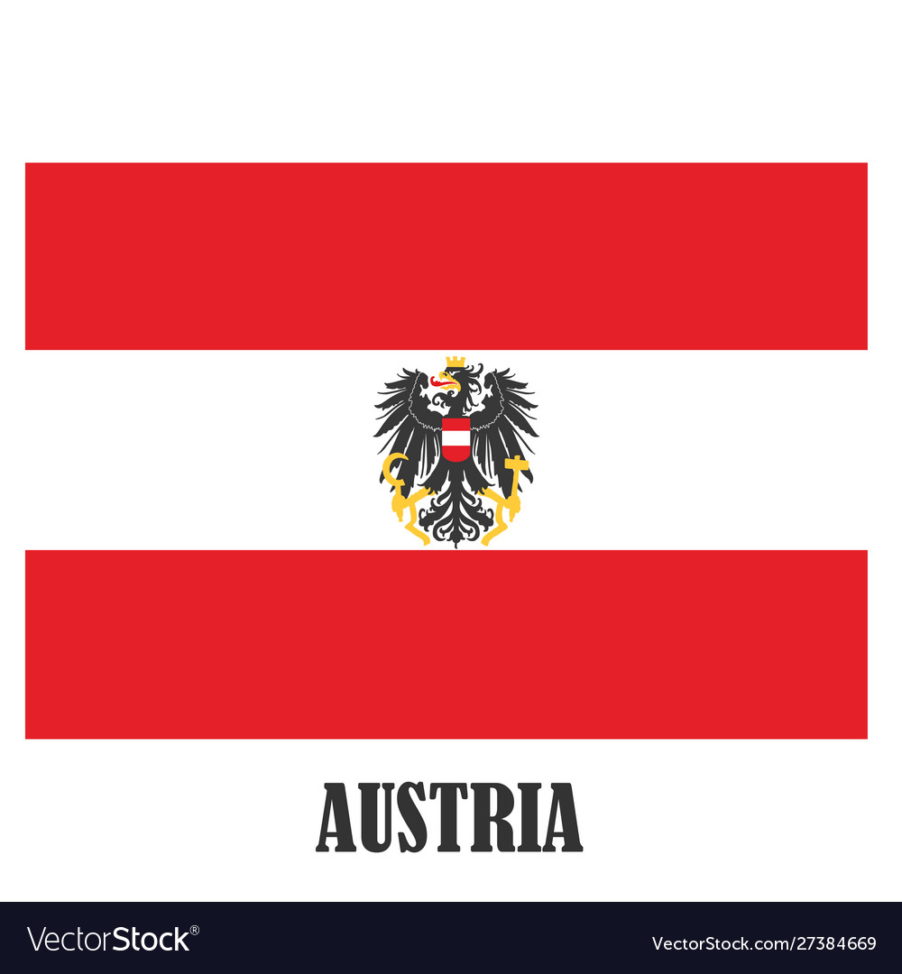 Austria symbols national coat arms and flag