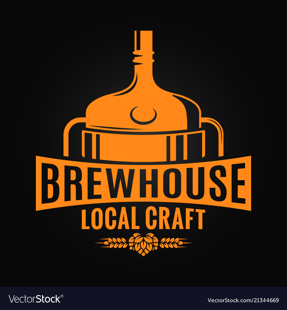 Beer tank brewery design brewhouse craft logo on