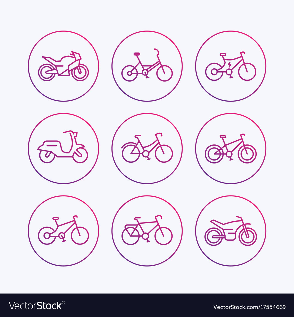 Bikes icons bicycle bike cycling motorcycle
