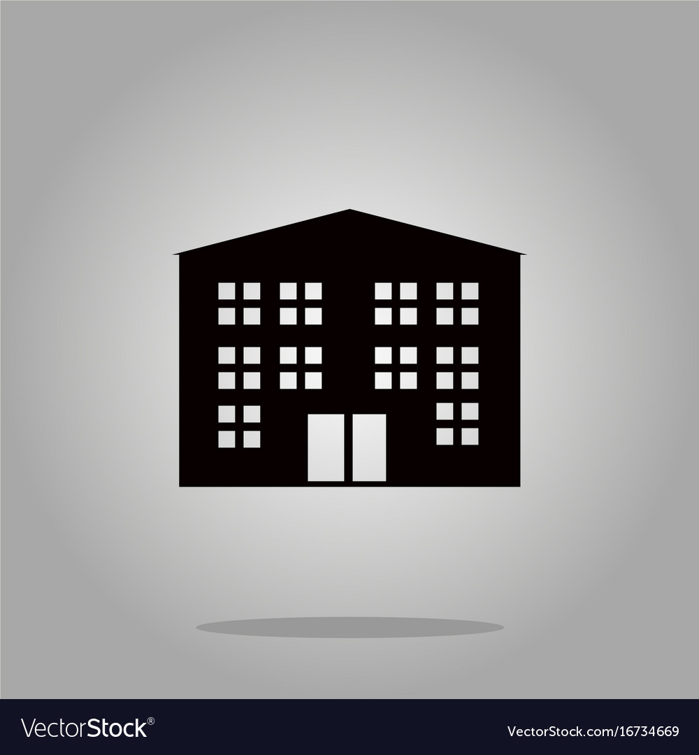 Building icon black silhouette on background