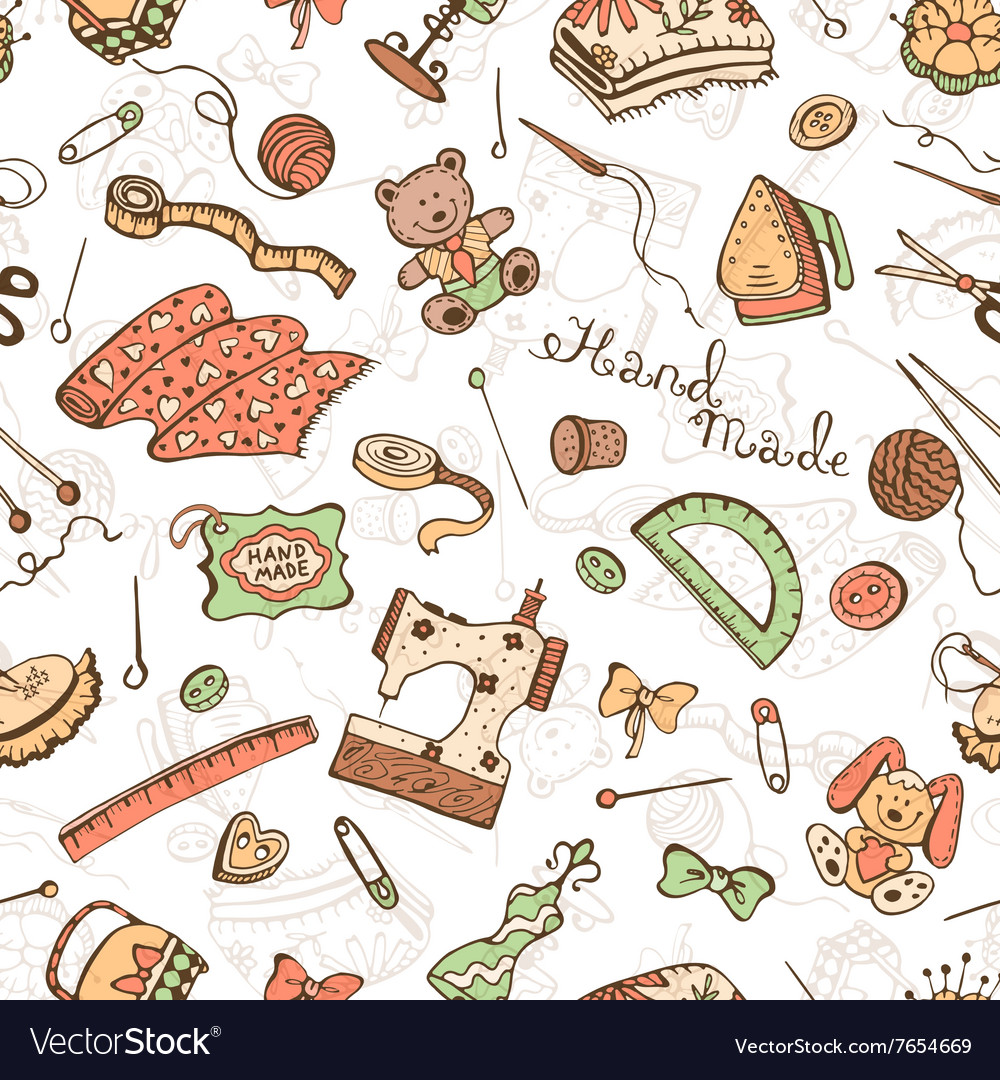Craft Tools Background Royalty Free Vector Image