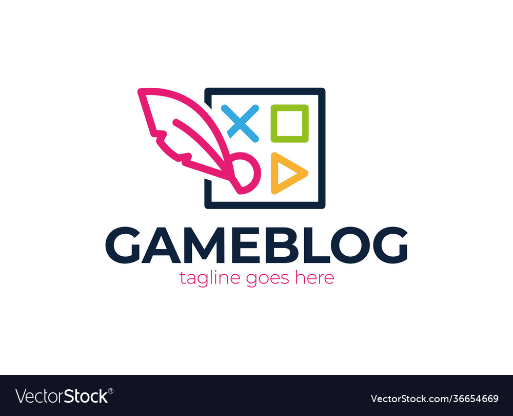 Joystick feather or device controller logo game