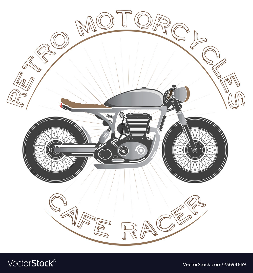 Old vintage motorcycle logo cafe racer theme
