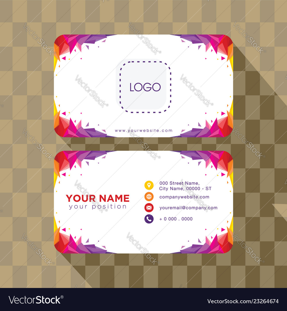 Abstract geometry business card template