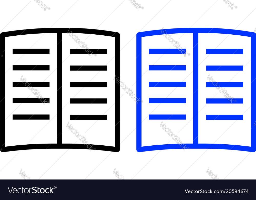 Book glyph icon