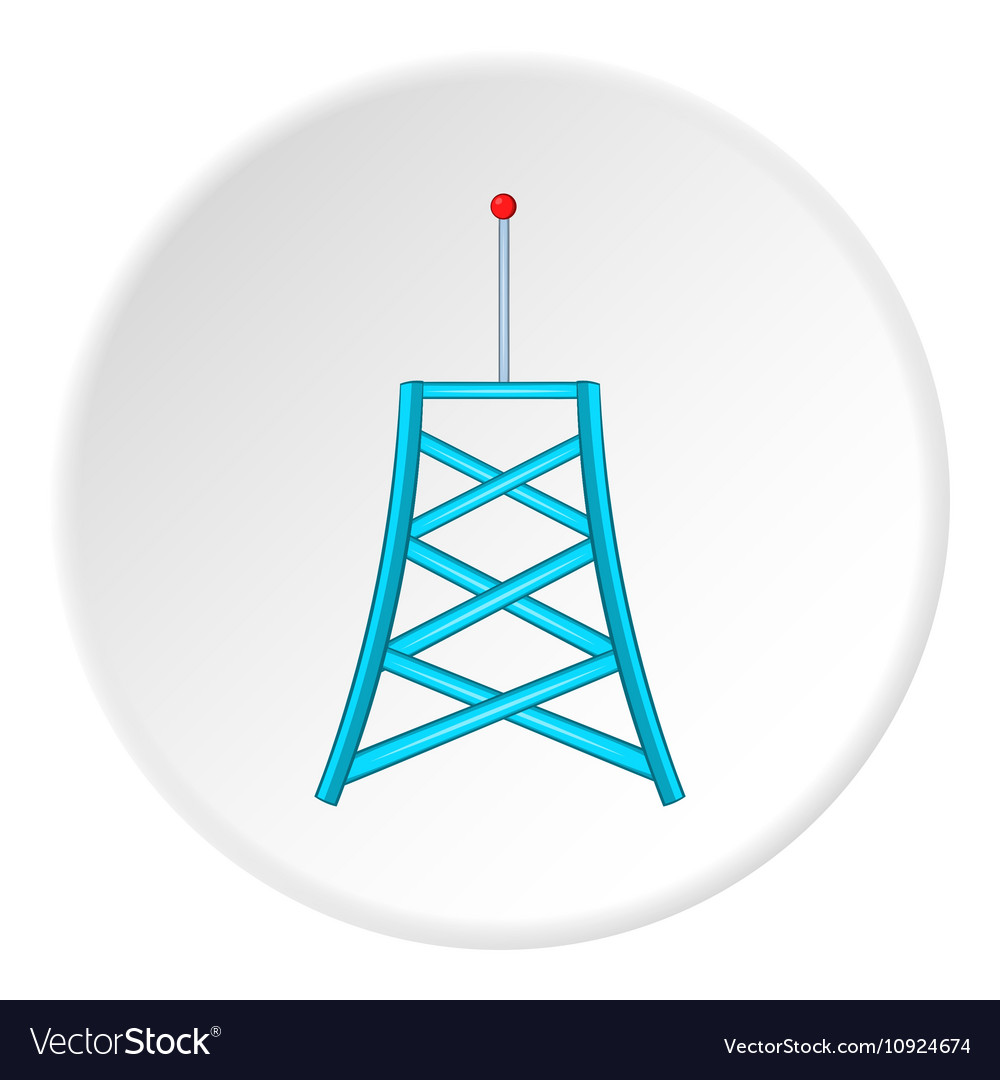 Cell phone tower icon cartoon style