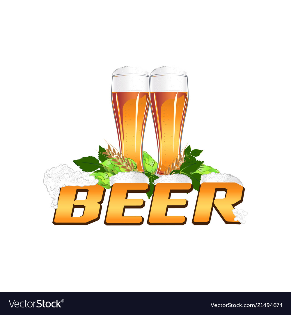 Colorful beer emblem