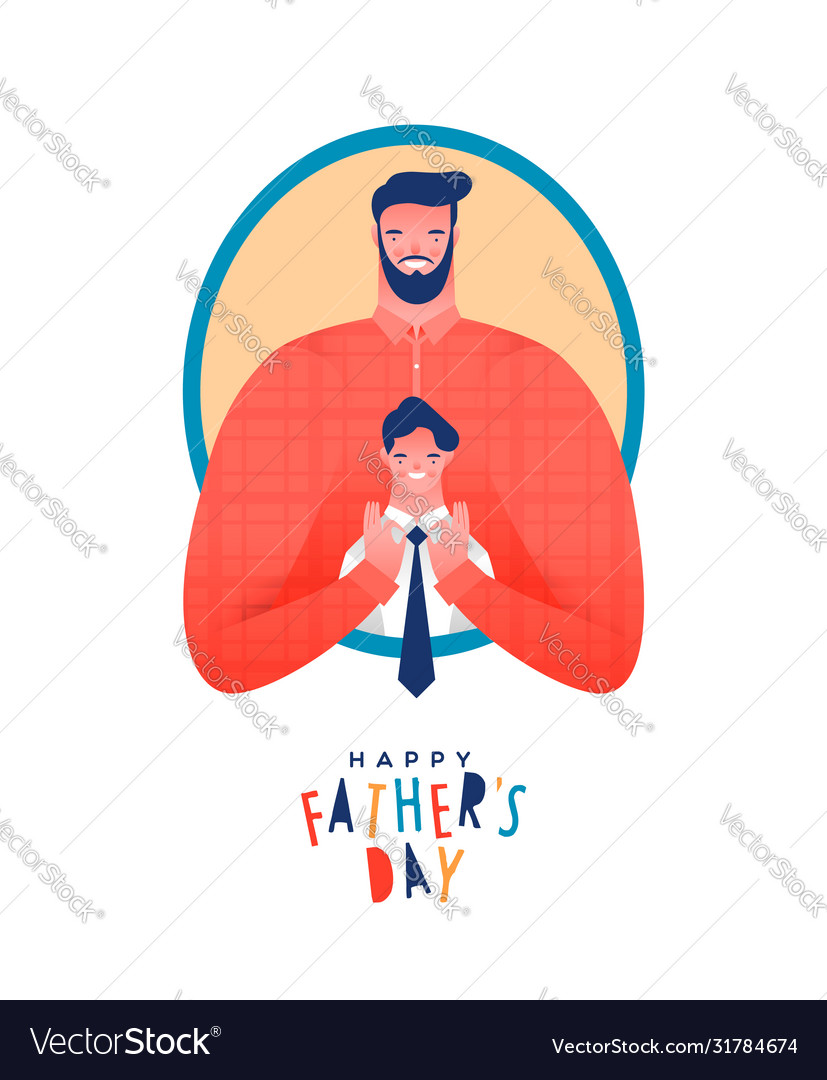 Fathers day card funny dad and kid together