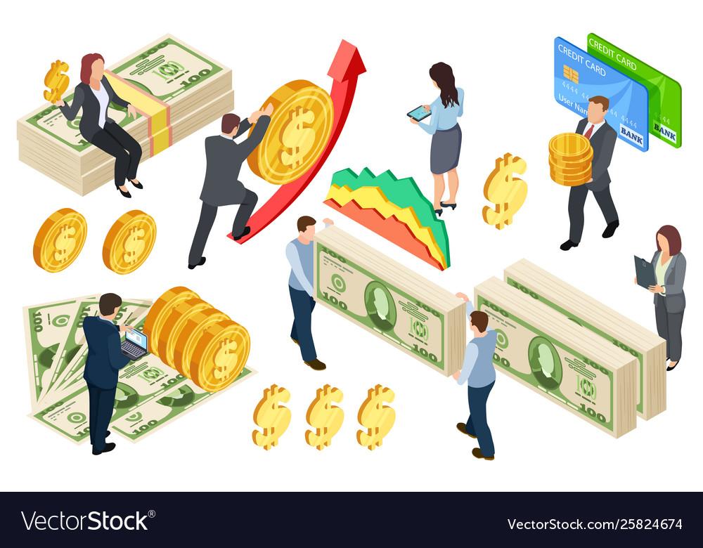 Financial banking credits isometric