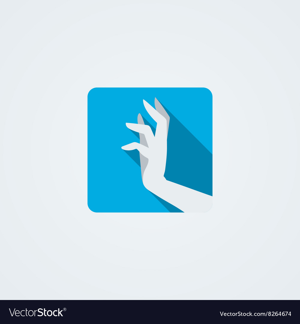 Icons with a graceful female hand in a