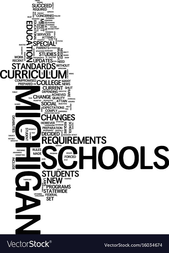 Michigan schools tweak curriculum text background
