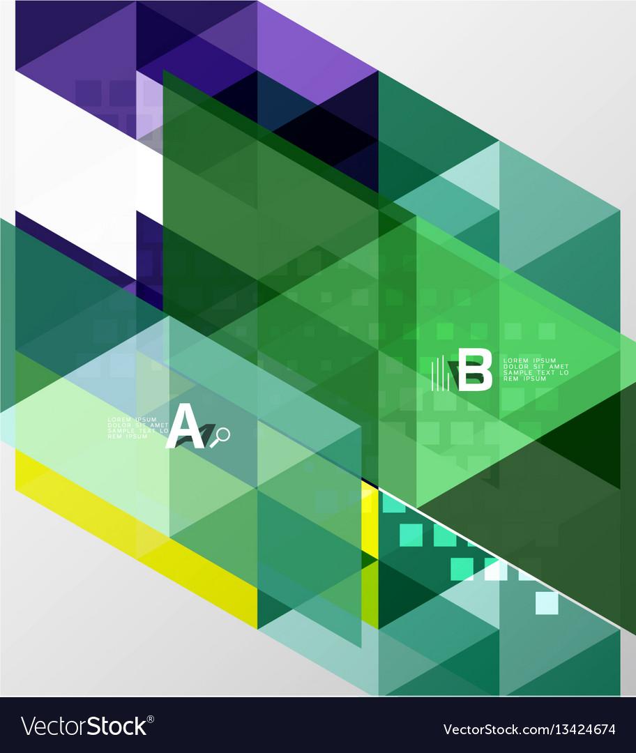 Minimalistic triangle design