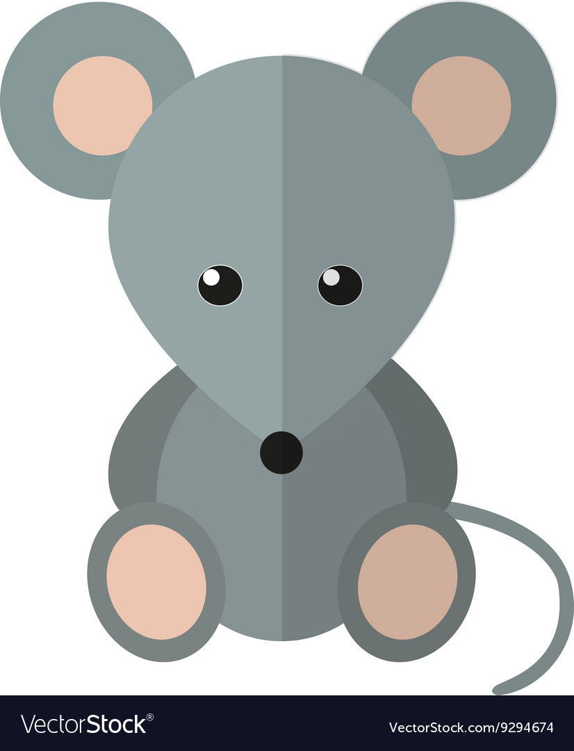 Mouse in flat style vector image