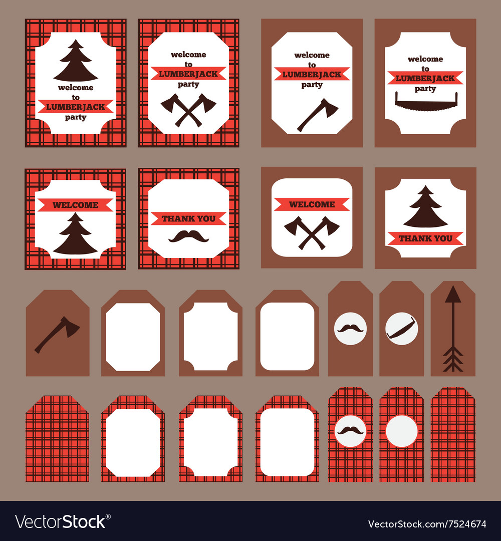 photograph regarding Printable Elements titled Printable preset of traditional Lumberjack occasion aspects