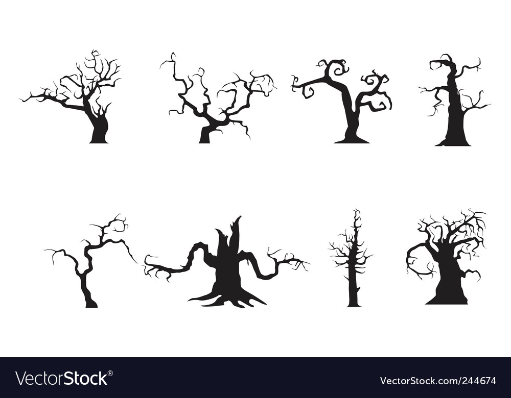 Scary trees vector image