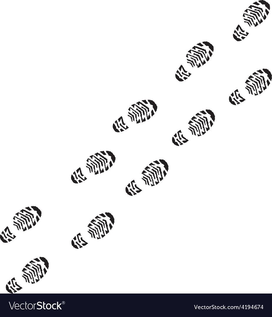 Shoe print track