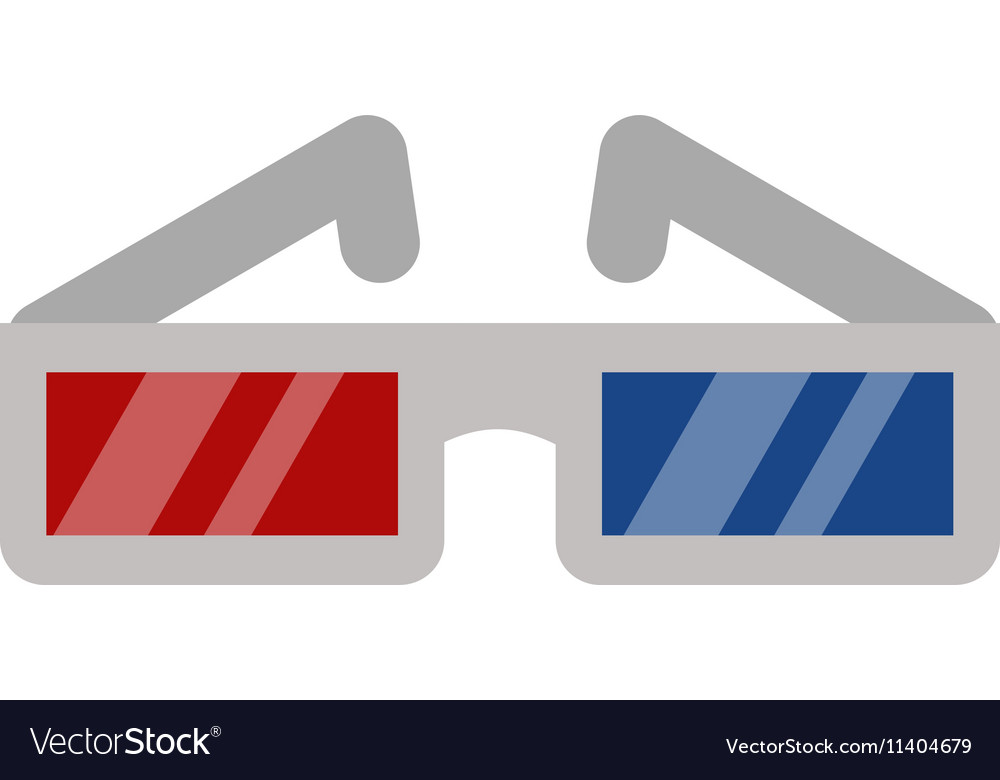 Cinema movie glasses on white background