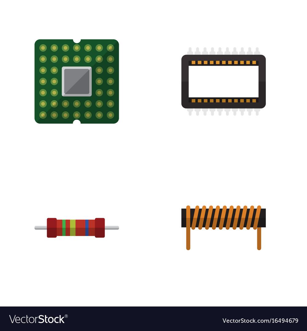 Flat icon technology set of bobbin resistance