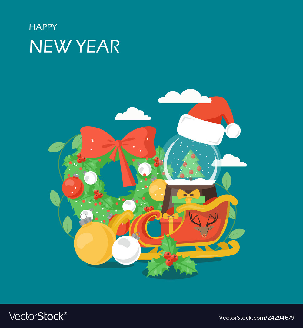 Happy New Year Flat Design 22