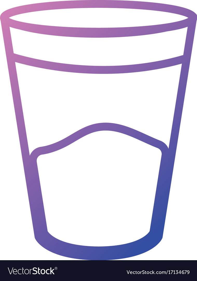 Line water glass to drink and fresh beverage