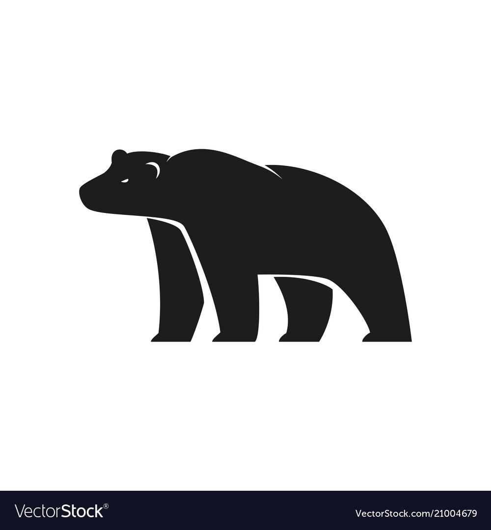 Polar bear icon on white background