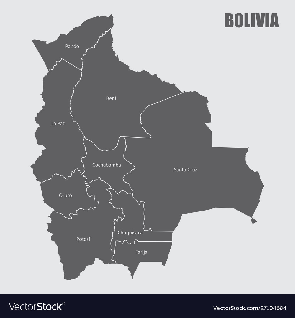 Bolivia regions map