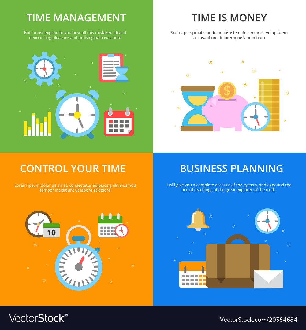 Concept at time management theme
