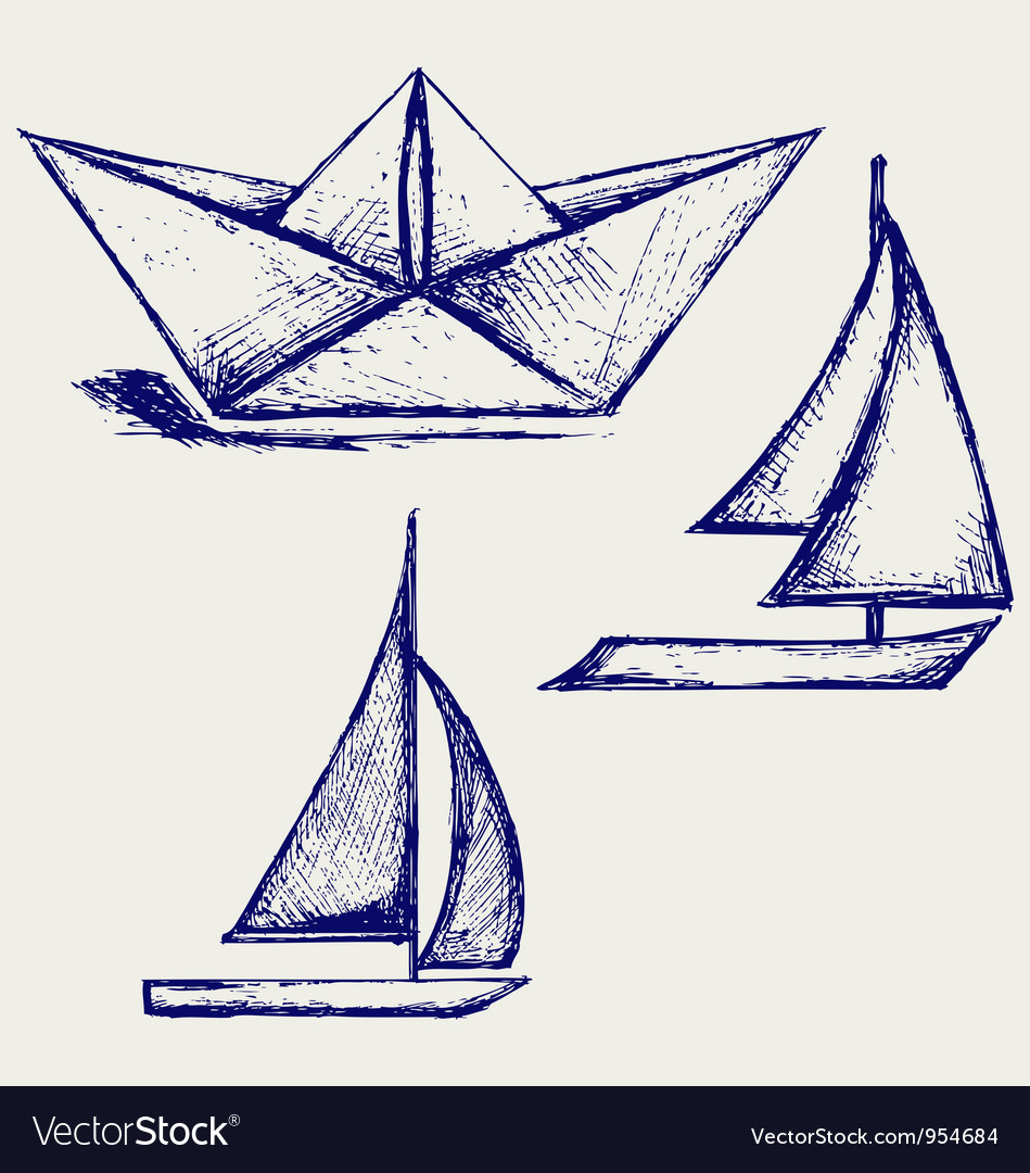 Origami paper ship royalty free vector image vectorstock origami paper ship vector image malvernweather Images